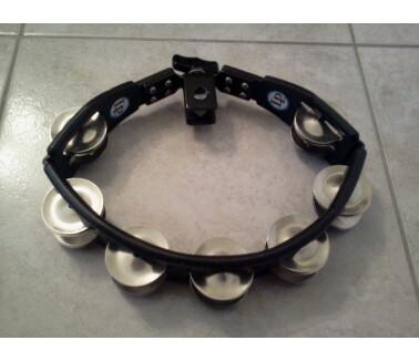 Latin Percussion Tambourin Cyclop noir Cymbalettes Acier LP 160