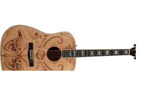 "Fender Melanie Steinway ""Tribal Moth"" Dreadnought"
