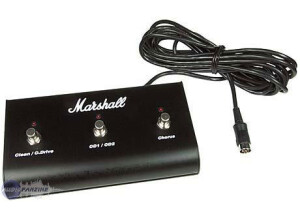 Marshall PEDL10014 - Three Way Footswitch with LEDs (Clean / Overdrive - OD1 / OD2 - Chorus)
