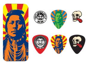 Dunlop John Van Hamersveld Indian Pick Tin