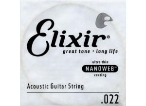 Elixir Strings Nanoweb Coating 80/20 Bronze Acoustic Single