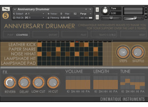 Cinematique Instruments Anniversary Drummer
