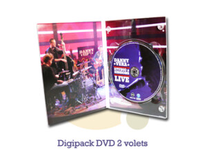 Pressage.EU Pressage DVD - Digipack DVD, 2 volets (4 pages)