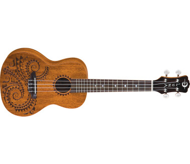 Luna Guitars Uke Tattoo Concert Mahogany