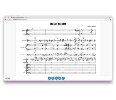 Avid Sibelius Cloud Publishing
