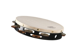 """Grover Pro Percussion T2 GS 12"""" Double Row German Silver Tambourine"""
