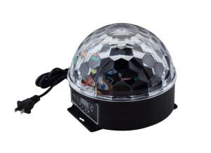 Power Lighting Disco Cristal Magic Ball 6 Couleurs LED DMX