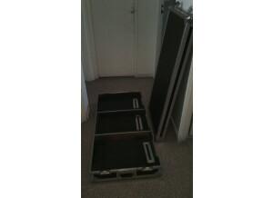 Power Acoustics flight case dj 2 vinyls+mixer