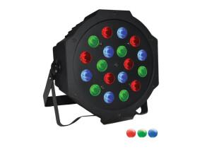 Power Lighting PAR Slim 18x3W RGB Bat