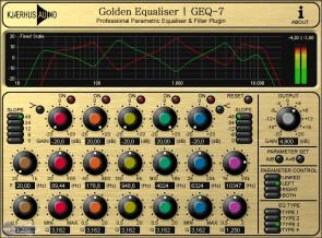 Kjaerhus Audio Golden Equaliser | GEQ-7