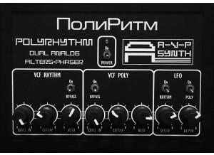 AVP Synth POLYRHYTHM dual analog filter + phaser unit