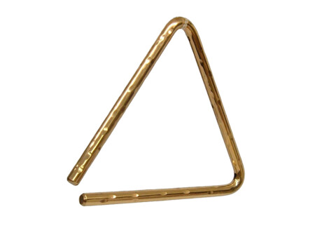 "Sabian Hand Hammered B8 Bronze Triangle 6"""
