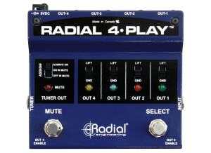 Radial Engineering 4-Play Multi-Output DI Box