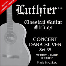 Luthier Strings Set 35 Concert Dark Silver Classical Guitar Medium/Hard Tension