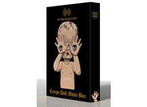 Orange Free Sounds Creepy Doll Music Box