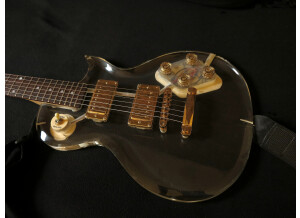 """Galveston """"Crystal Clear"""" Les Paul style - solid perspex"""