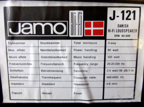 Jamo Hifi J-121 Studio Monitor