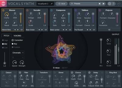 4 packs de presets pour VocalSynth 2 sont offerts par iZotope