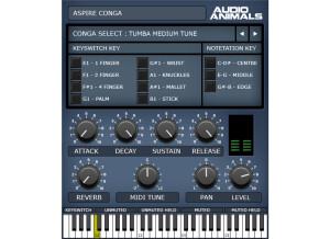 Audio Animals Aspire Conga