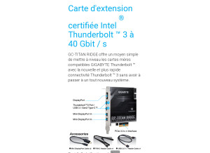 Gigabyte carte fille rhunderbolt 3 Alpine ridge rev2*