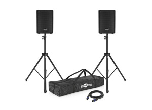 """SubZero 300W 10"""" Speaker System with Stands"""