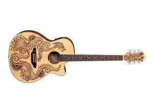 Luna Guitars Henna Dragon