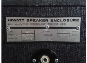 Hiwatt SE4129 200W Fane122667