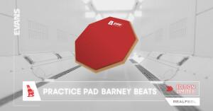 Evans RealFeel Practice Pad Barney Beats
