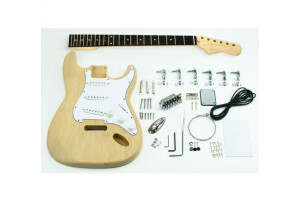 The Guitar Kit Fabric Guitar Kit - Type Strat, Chrome, Aulne