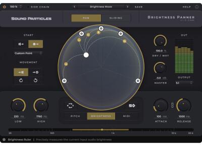 Découvrez Brightness Panner de Sound Particles