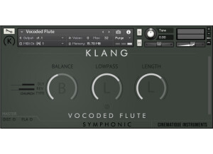 Cinematique Instruments Vocoded Flute
