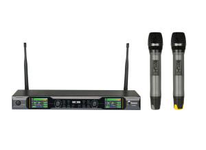 Rondson JS-WM18D Ensemble récepteur double avec 2 microphones à main sans fil