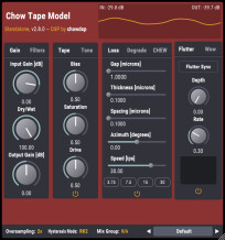 Chowdhury DSP Chow Tape Model