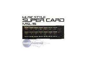 Roland MSL-15 Music Style Super Card