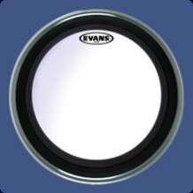 Evans EMAD bass drumhead coated