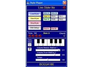 Live Styler Style Player (freeware)
