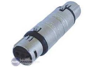 Schulz Kabel Adaptateur Xlr Femelle / Xlr Mâle Neutrik Na3 Ff