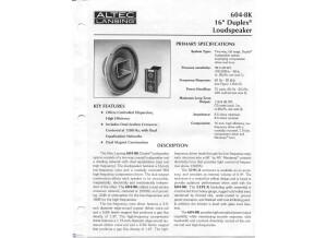 Altec Lansing 604 8G