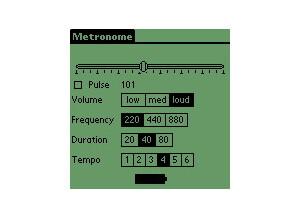 Pierre Lescuyer [freeware] métronome pour Palm
