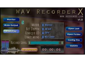 Homegrown Sounds WAV Recorder X