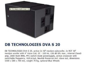 dB Technologies DVA S20