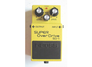 Boss SD-1 SUPER OverDrive - Tubescreamer on steroids mod
