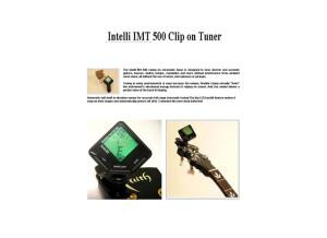 Intelli IMT500 Clip On Tuner