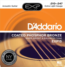 D'Addario EXP Coated Phosphor Bronze Wound Acoustic Guitar