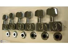 Schaller Fender Us avec logo Fender gravé chrome