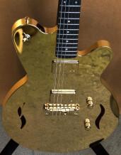 Liquid Metal Guitars 18 K gold guitar, GGG #001