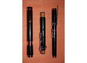 Lehart Flûte traversière en ébène (tonalité D, 6 clés)