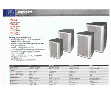 Proel TPR-15A