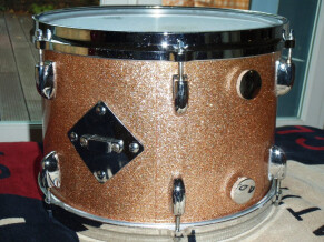 Gretsch Tom 13X9 Stop Sign 70's, Champagne Sparkle