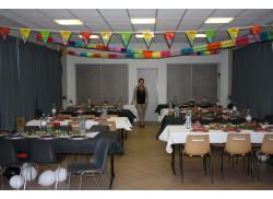 18 octobre 2014 les 20 ans de ma Grande Nièce : Salle 120 m² 65 personnes attendues